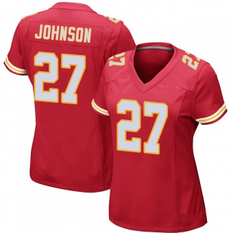 Women's Larry Johnson Red Game Team Color Football Jersey